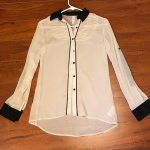 Xhileration sheer blouse